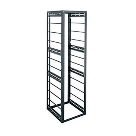 Middle Atlantic Products MAP-GRK4042HLRD 42 in. 40RU GRK Series Rack The GRK-40-42HLRD series is a versatile welded gangable rack with superior construction. Choose a GRK when a narrow multi-bay rack optimized for high density video cable bundles is required and a choice of either a horizontal or vertical lacing is desired. FeaturesSolid frame top and bottom for more robust constructionHorizontal cable management bars for tie-and-slide lacingAllows straight vertical cable runs through fully open top and bottomFinished edges at top and bottom opening provide better appearance and prevent cable chafingUniversity hinged GRK door installs with left or right swing, front and backSolid, vented and cupboard style beveled doorsNumbered rackspace increments simplify & speed equipment installationGrounding and bounding studs standard top and bottomFinished in a durable black textured powder coatSpecificationsRack Unit: 40Size: 42 in.Weight: 110 lbs- SKU: TCNCD348761