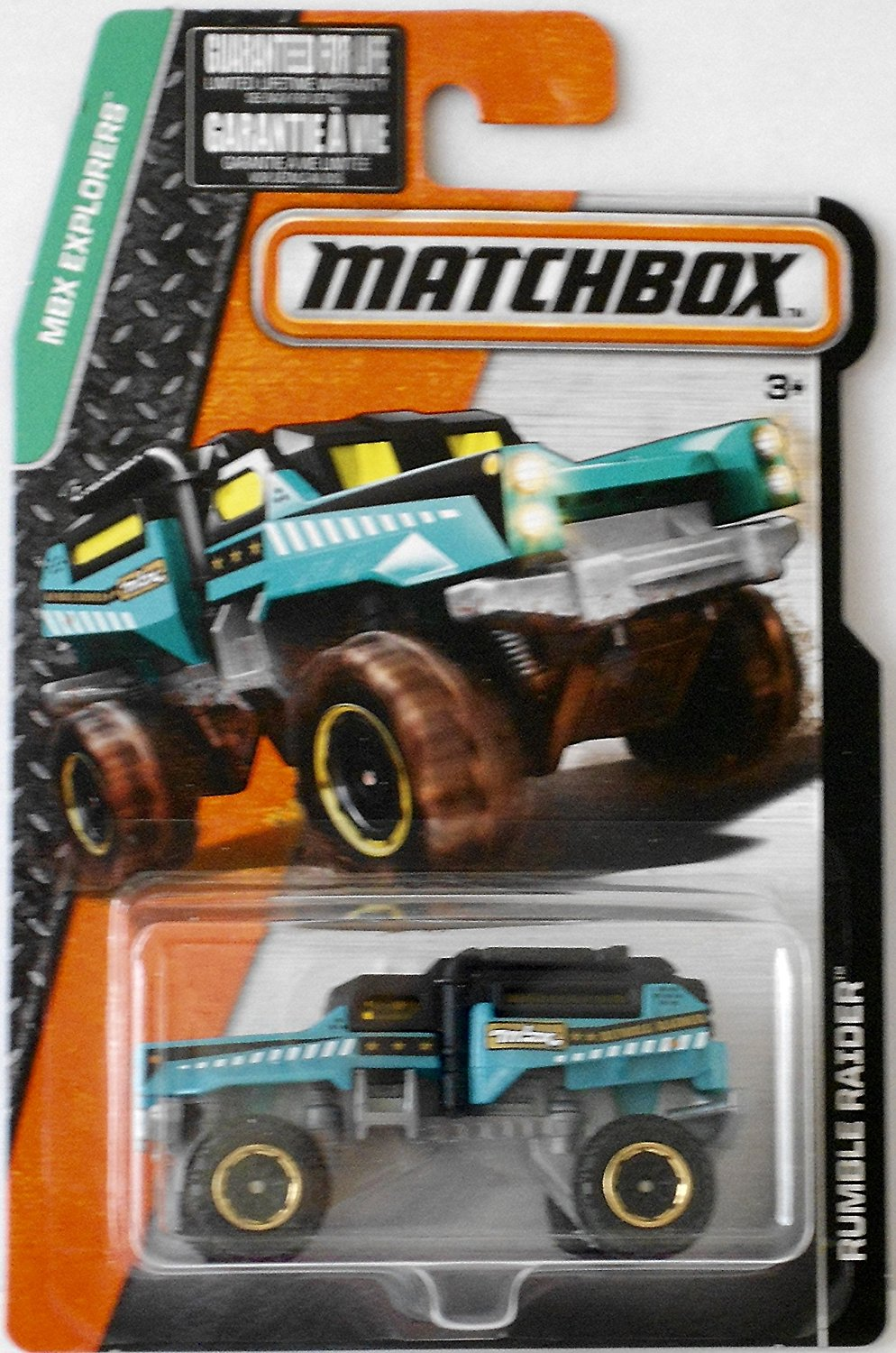 MBX Explorers Rumble Raider Turquoise Black By Matchbox From USA by