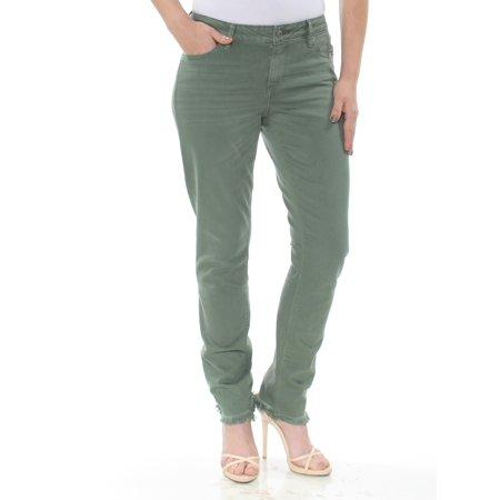 LUCKY BRAND Womens Green Raw Hem Skinny Jeans  Size: 4