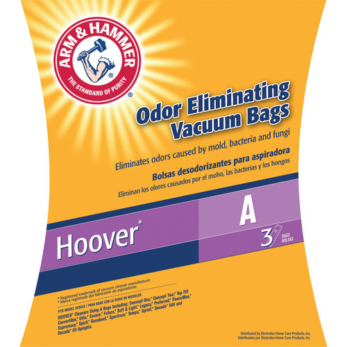 Electrolux Arm & Hammer Odor Eliminating Vacuum Bags, Hoover A, 3 Pack