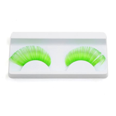1 Pair Green False Eyelashes Extension Eye Decoration for Women Party Makeup