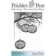 Prickley Pear Cling Stamps 3.25 Inch X 3.25 Inch-Hanging Pumpkins