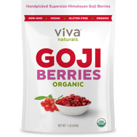 Viva Naturals, Organic Goji Berries 1 Lb