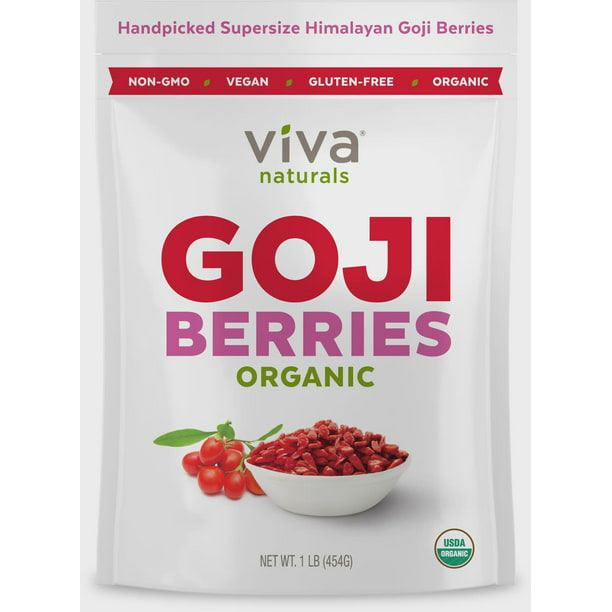 Viva Naturals Organic Goji Berries 1 Lb Walmart Com Walmart Com