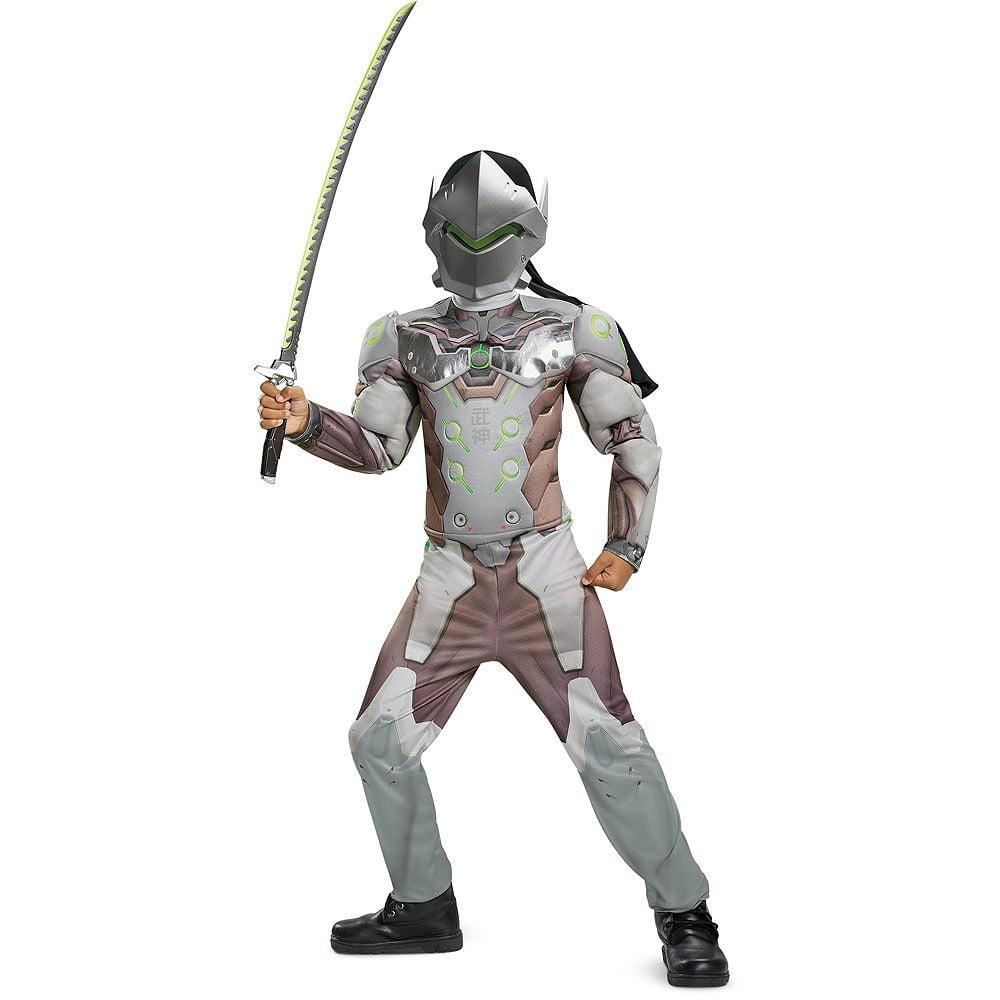Halloween Genji Overwatch Classic Muscle Costume