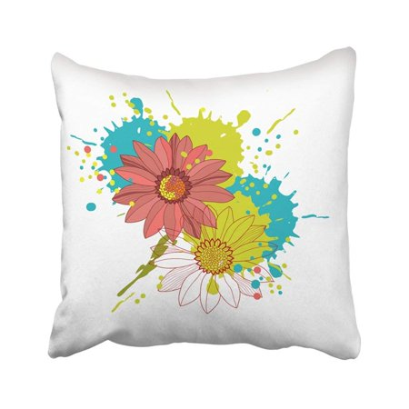 RYLABLUE Abstract Floral Beauty Birthday Border Branch Celebrate Celebration Corner Pillowcase Pillow Cover 16x16 inches - image 1 de 1