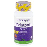 Natrol Melatonin Sleep Strawberry Flavor Tablets, 3 mg, 90 count