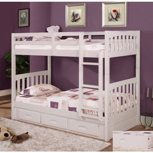 American Furniture Classics Twin Over Twin Wood Bunk Bed With