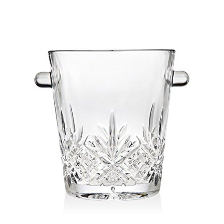 Dublin Cocktail Clear Crystal Starburst Design Barware Ice Bucket with Handles