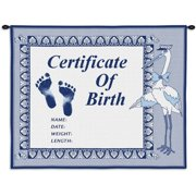 Pure Country Weavers Birth Certificate Tapestry Hanging Art