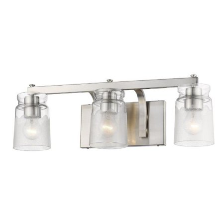 5 Pw Pewter Finish - Travers PW 3-Light Bath Vanity in Pewter
