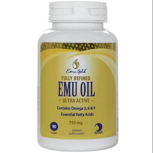Emu Oil Certified Pure Grade A Extra Strength 750mg Emu Gold 90 Softgel