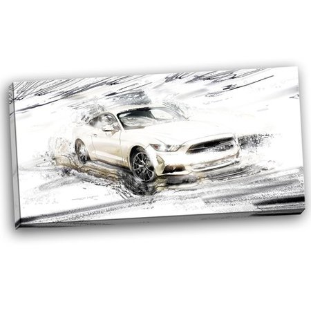 Design Art Super Charged White Muscle Car, 32