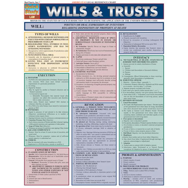 BarCharts- Inc.  9781572228153 Wills And Trusts