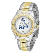 """6.5"""" Silver and Gold MLB Kansan City Royals Two-Tone Competitor Series Wristwatch for Men"""