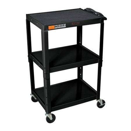 42 Adjustable Height Av Cart (Luxor H Wilson Adjustable Height AV Cart )