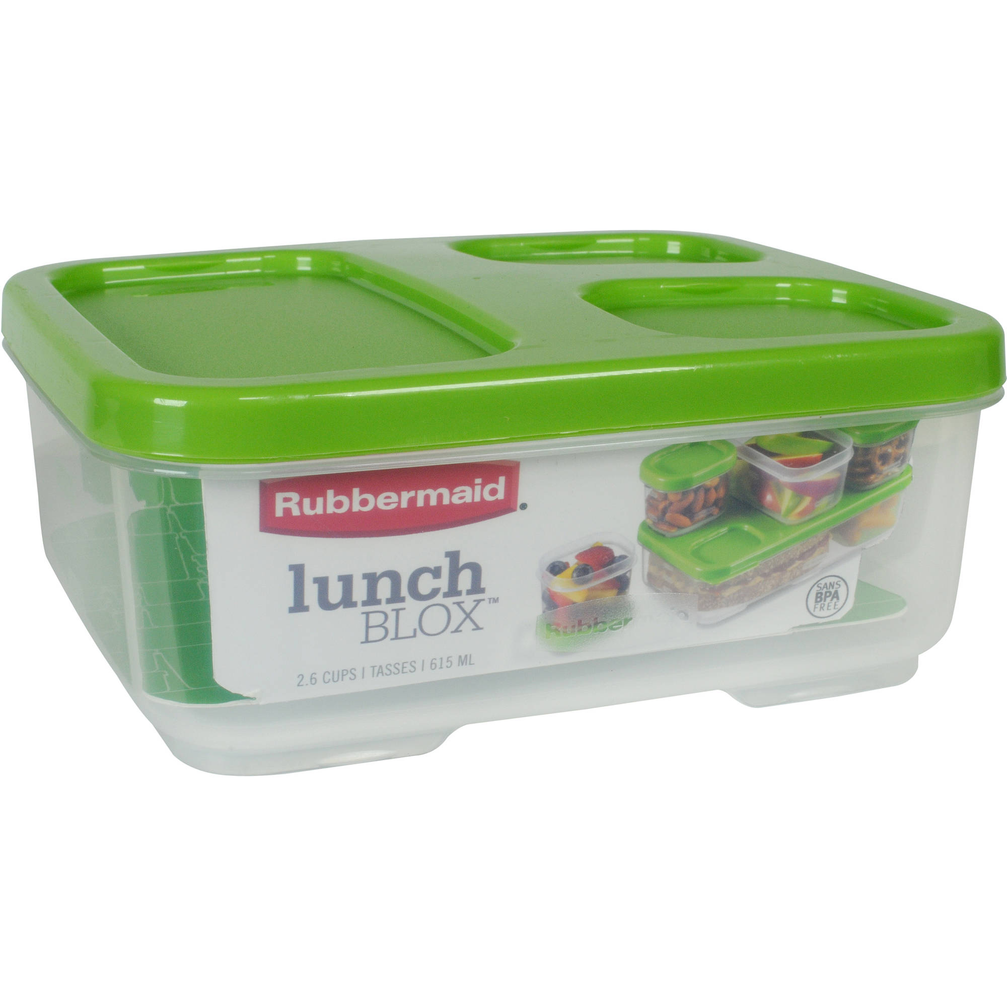 Rubbermaid LunchBlox Sandwich Storage Container, Case of 6
