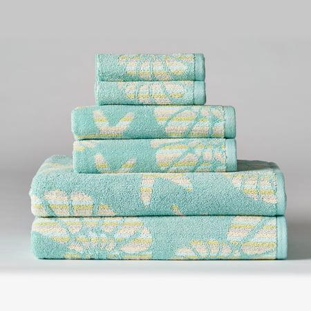 Penumbra Home Nautilus Stripe 6 Piece Cotton Towel Set