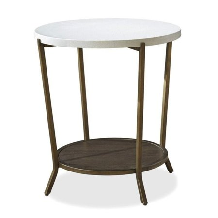 Brown Eyed Girl - Maklaine Round End Table in Brown Eyed Girl