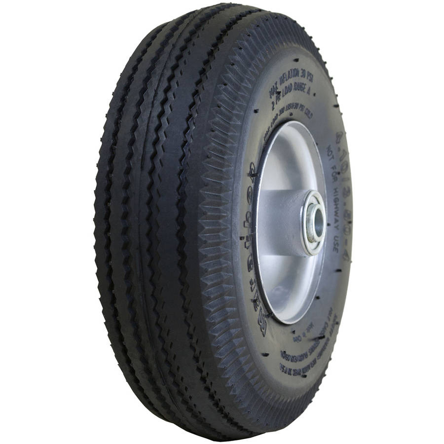 "Marathon Industries 20010 4"" Pneumatic Tire and Tube On Steel Rim"
