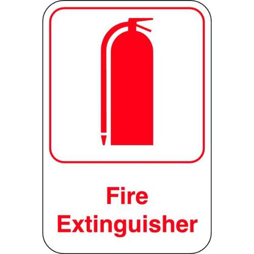 """Fire Extinguisher Sign, United Visual Products, UVOS1048, 9""""Hx6""""W"""
