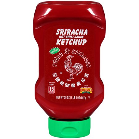 (3 Pack) Huy Fong Ketchup Sriracha Sauce 20oz - Ketchup Hat