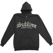 Sublime Men's  Logo Zippered Hooded Sweatshirt Black