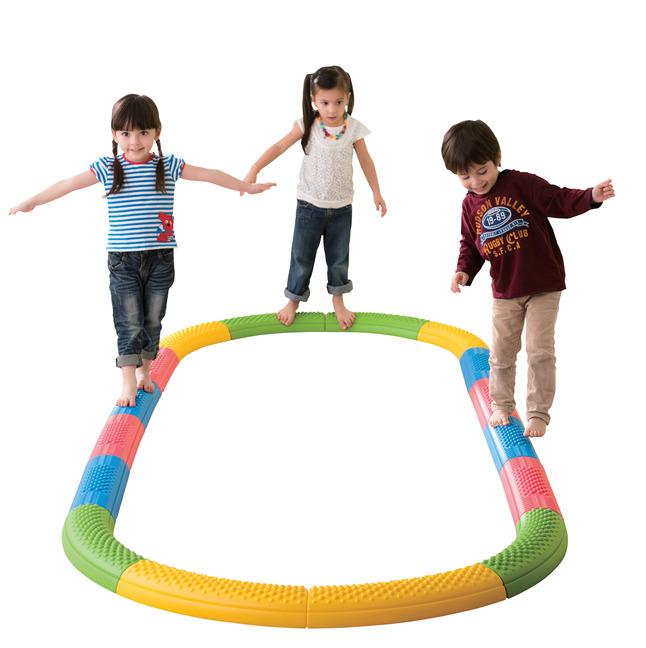 "Kiddies Paradise Tactile Balance Beam Set, 19"" x 5-1/4"" x 2-1/2"", Plastic, Set of 16"