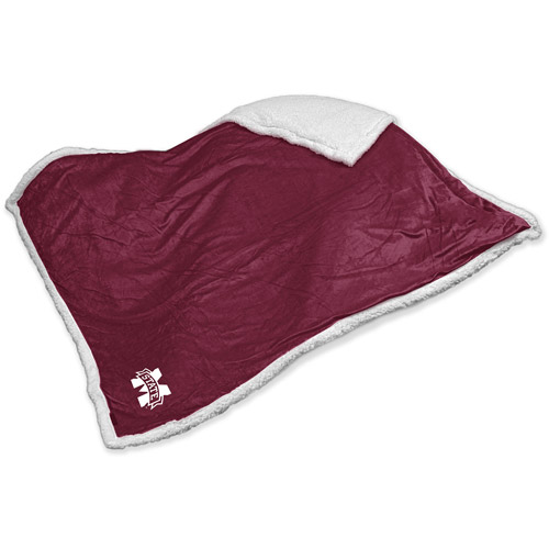 Logo Chair NCAA Mississippi State Sherpa Blanket