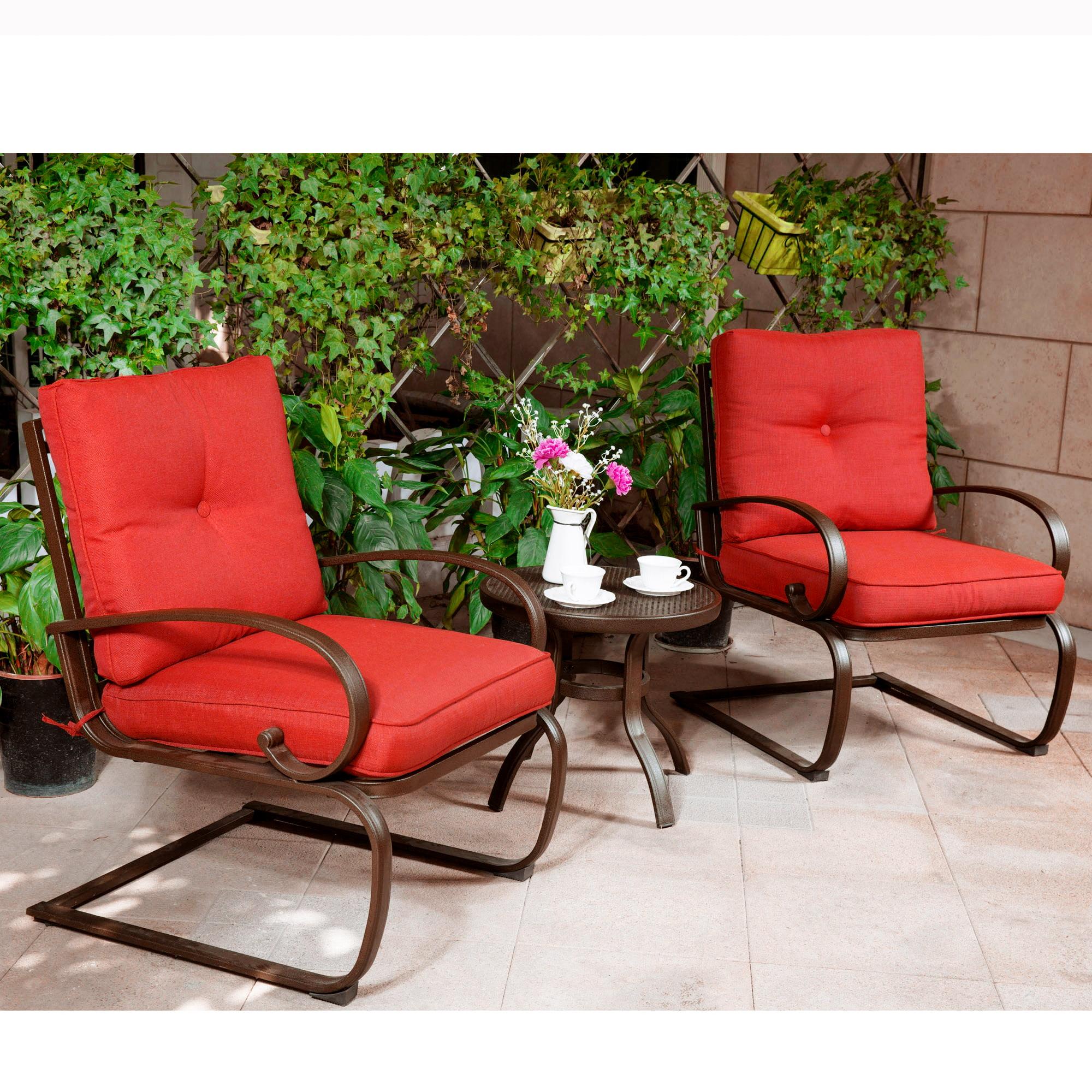 Cloud Mountain Bistro Table Set Outdoor Bistro Set Patio Cafe Furniture Seat, Wrought Iron Bistro Set, Garden Set with... by Cloud Mountain