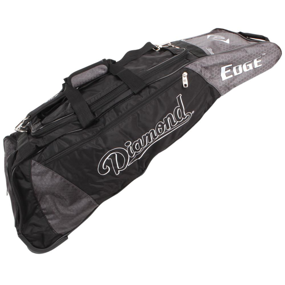 "New Diamond Rival Wheeled Bat Bag Baseball Royal/Black Size: 36""L x 10""W x 12""H."