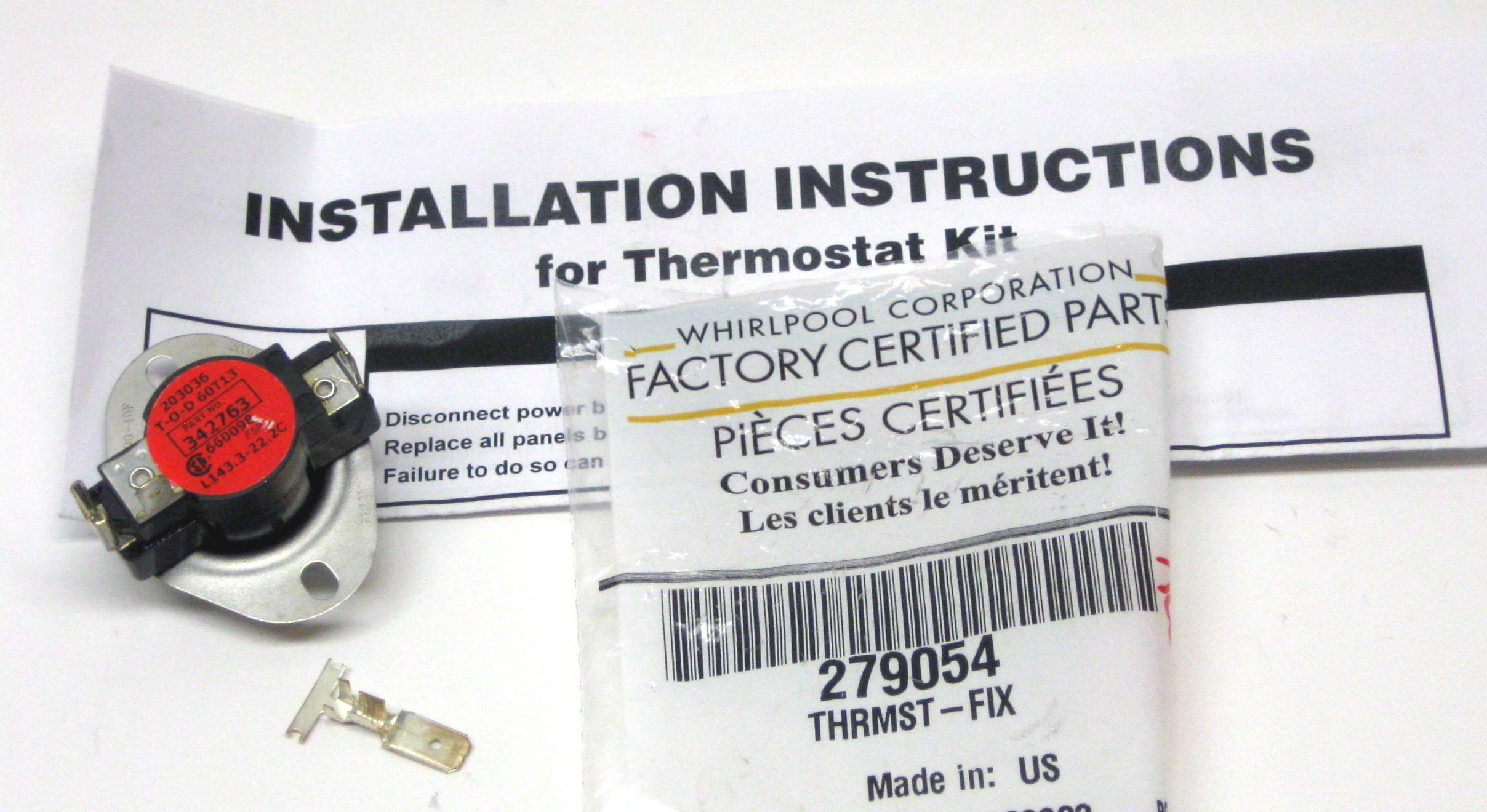 Dryer Hi Limit Thermostat For Whirlpool Kenmore 279054 Ap3094088 3m Filtrete Wiring Diagram Ps334127
