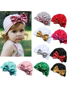 Product Image Baby Newborn Kids Cute Points Bowknot Sequins Hat Cap Beanie  Bonnet Hats Hair 79ad37a6c671