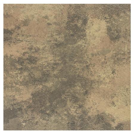 Achim Portfolio Self Adhesive Vinyl Floor Tile - 12 Tiles/12 sq. ft., 2.0mm, 12 x 12, Stone Travertine