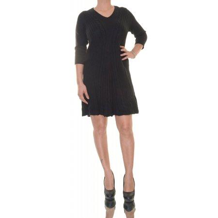 54ae4220aac Black Dress 3 4 Sleeve Size PL NWT - Movaz - Walmart.com