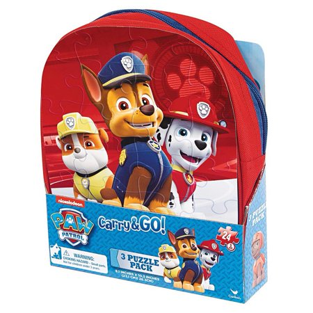 Paw Patrol Carry and Go 24 Piece Puzzle 3-Pack,  Puzzles by - Paw Patrol Halloween Puzzle