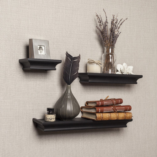 Danya B Cornice 3 Piece Ledge Floating Shelf Set