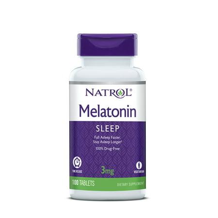 Natrol Melatonin, Time Release Tablets, 3mg, 100 - Natrol Melatonin Time Release