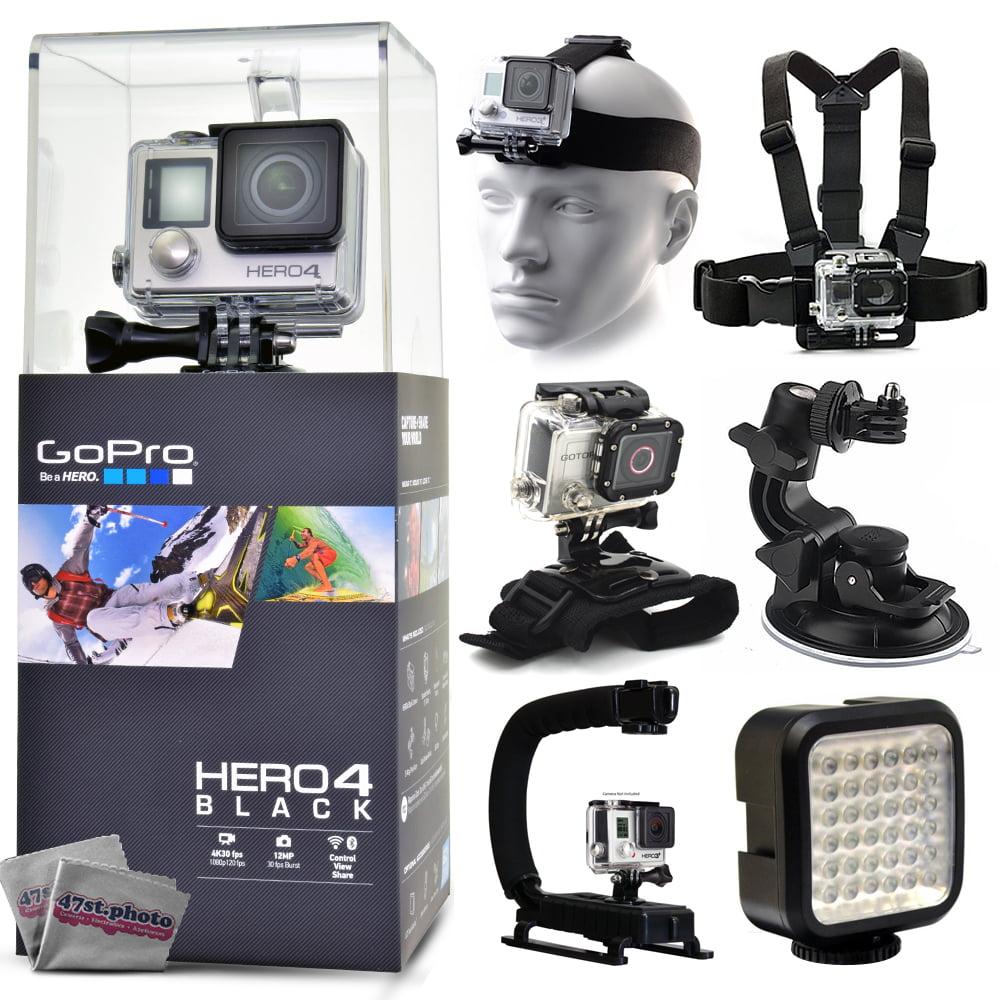 GoPro Hero 4 HERO4 Black CHDHX-401 with Headstrap + Chest...