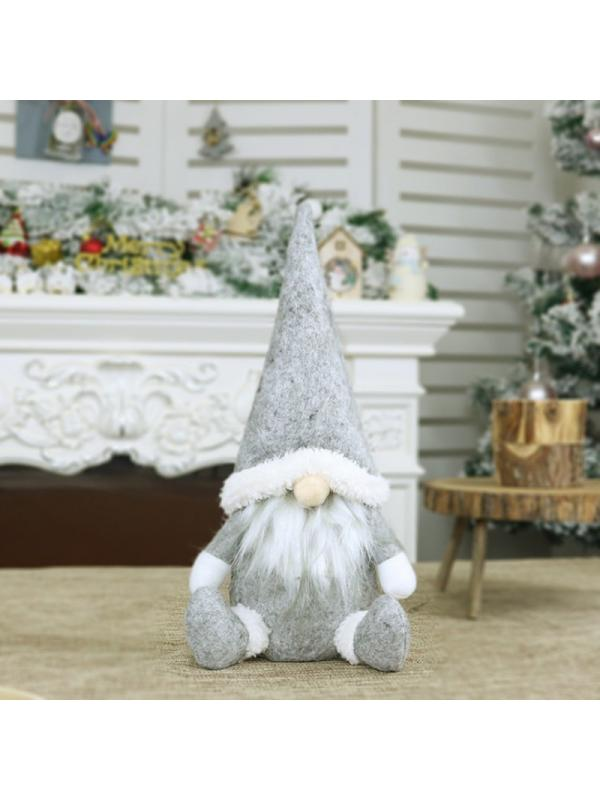 Lurowo Handmade Swedish Gnome Plush,Handmade Scandinavian Tomte Swedish Elf Dwarf Nordic Plush Figurine Toy,Christmas Gnome for Home Decor Christmas Decorations Presents Gray, Type 1