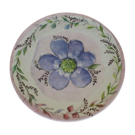 Merritt Bloom & Vine Round 8.5 in. Salad Plate, Blue](Plate And Vine)