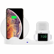 3 in 1 Wireless Charger Stand QI Wireless Charging Dock Station Replacement for Apple Watch Series 3/2/1, iPhone Xs/XS MAX/XR/X/8/8 Plus, AirPods