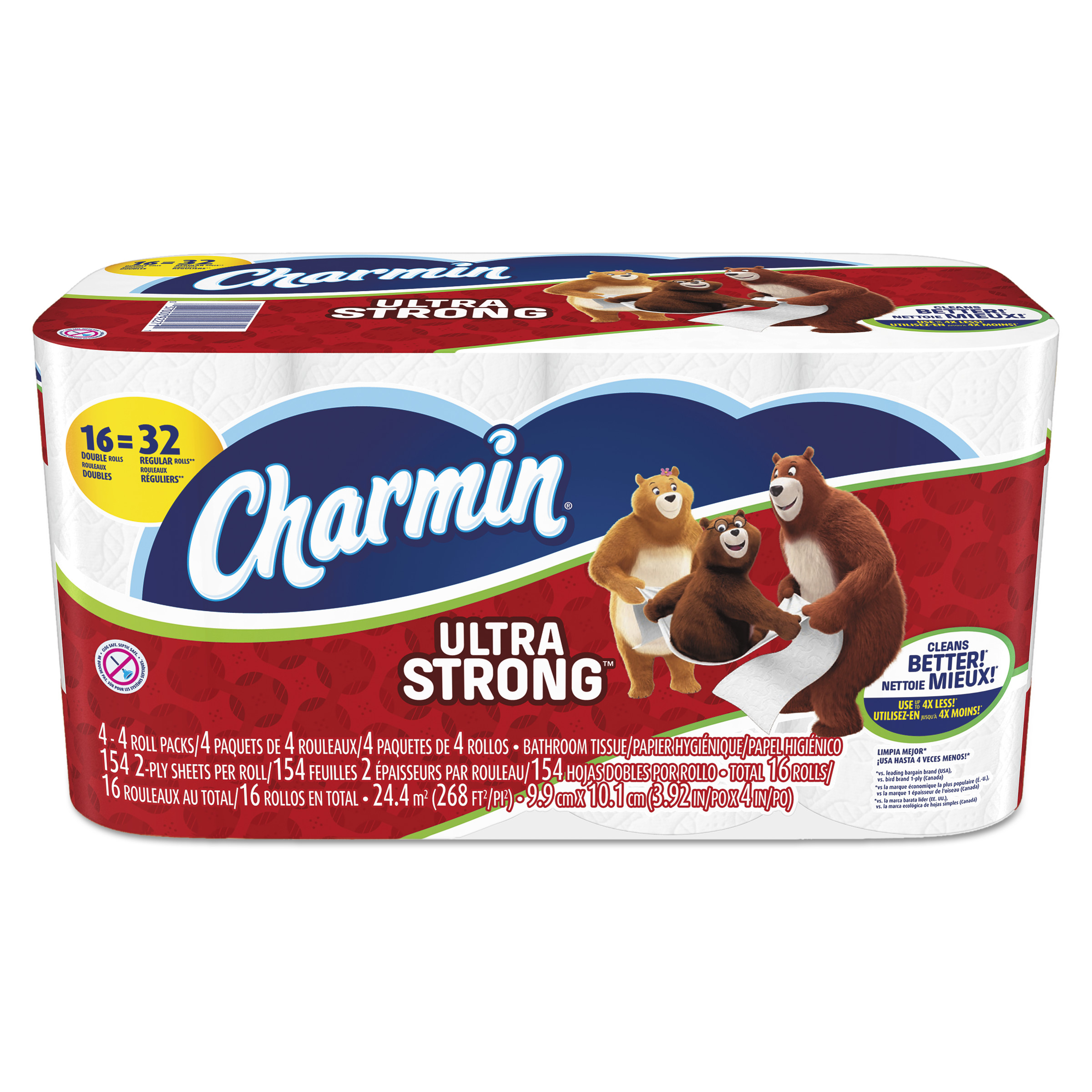 Charmin Toilet Paper, Ultra Strong, 16 Double Rolls - Walmart.com