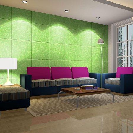 Green 3D Wall Panels 12