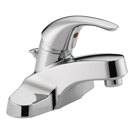Peerless Tunbridge Centerset Single Handle Bathroom Faucet in Chrome P188620LF-ECO-W Centerset Bathroom Faucet Finish