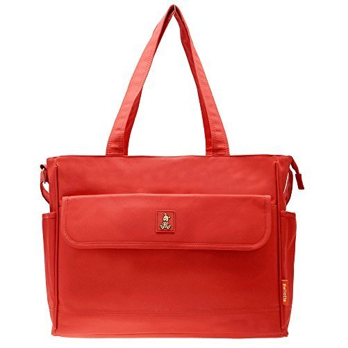 Bellotte Classis Diaper Bag, Polyster, Red