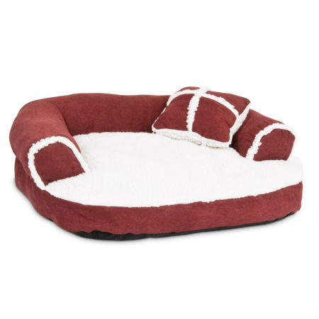 Aspen Pet Sofa Bed With Pillow Assorted Colors for Small Dog (Color May Vary from Brown, Black, Taupe, Red) 20