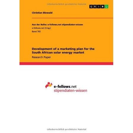 Development Of A Marketing Plan For The South African Solar Energy Market