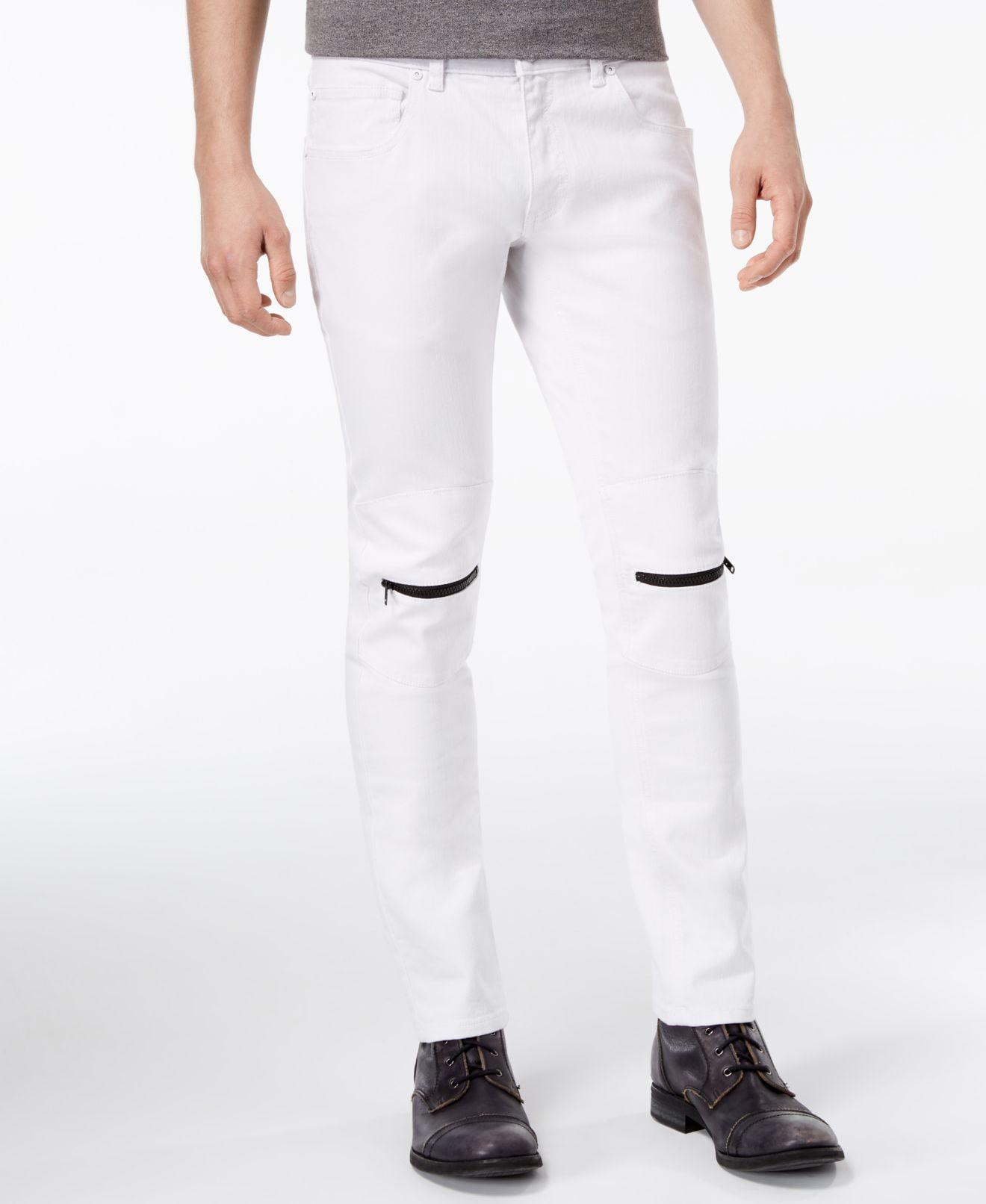 INC Mens 40X32 Zipper Detail Moto Skinny Stretch Jeans