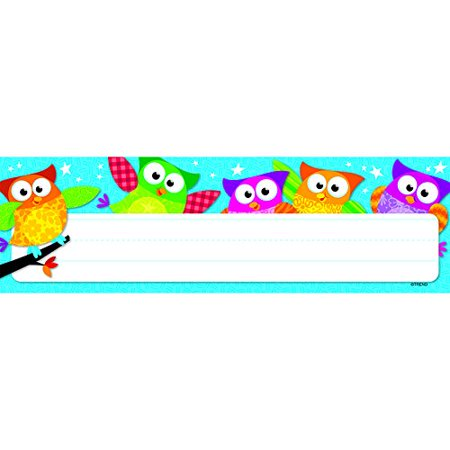 Name Packages (Owl-Stars! Desk Toppers Name Plates, 36 per Package (T-69217), Great for labeling everything including lockers and storage units )